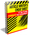 Thumbnail Article Writers Cheat Sheet