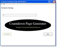 Thumbnail Countdown Page Generator