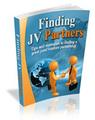 Thumbnail Finding JV Partners - Ebook