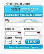 Thumbnail HotelsCombined Search Widget