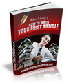 Thumbnail Writing Your First Article - Ebook