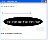 Thumbnail Video Squeeze Page Generator