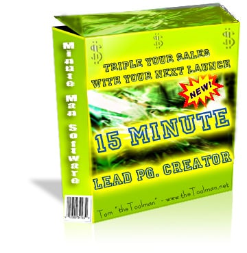 Pay for 15 Minute Lead Page Creators
