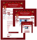 Pay for 3 Christmas Sites -  WP   Blogger Theme
