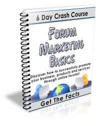 Pay for Forum Marketing Basics - 6 Day Crash course