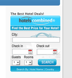 Pay for HotelsCombined Search Widget