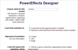 Pay for PowerEffects Designer - PHP