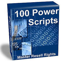 Pay for 114 Power Scripts All with Resell rights Mega Package!