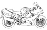 Thumbnail Kawasaki Motorcycle ZZR1200 Service Manual