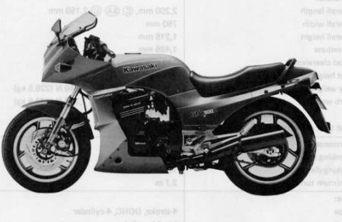 Kawasaki Motorcycle 1986 1990 Gpz900r Supplement Service Manual D