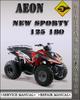 Thumbnail Aeon New Sporty 125 180 Factory Service Repair Manual