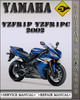 Thumbnail 2002 Yamaha YZFR1P YZFR1PC Factory Service Repair Manual