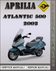 Thumbnail 2002 Aprilia Atlantic 500 Factory Service Repair Manual