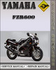Thumbnail 1998 Yamaha FZR600 Factory Service Repair Manual