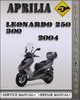 Thumbnail 2004 Aprilia Leonardo 250 300 Factory Service Repair Manual