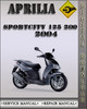 Thumbnail 2004 Aprilia SportCity 125 200 Factory Service Repair Manual