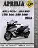 Thumbnail 2005 Aprilia Atlantic Sprint 125 200 250 500 Factory Service Repair Manual