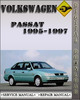 Thumbnail 1995-1997 Volkswagen Passat Factory Service Repair Manual 1996