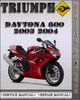 Thumbnail 2003 2004 Triumph Daytona 600 Factory Service Repair Manual