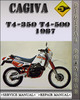 Thumbnail 1987 Cagiva T4-350 T4-500 Factory Service Repair Manual
