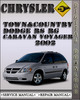 Thumbnail 2002 Chrysler Town&Country Dodge RS RG Caravan Voyager Factory Service Repair Manual