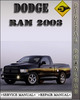 Thumbnail 2003 Dodge Ram Factory Service Repair Manual