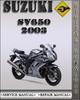 Thumbnail 2003 Suzuki SV650 Factory Service Repair Manual