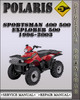 Thumbnail 1996-2003 Polaris Sportsman 400 500 Xplorer 500 Factory Service Repair Manual 1997 1998 1999 2000 2001 2002