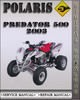 Thumbnail 2003 Polaris Predator 500 Factory Service Repair Manual
