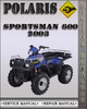 Thumbnail 2003 Polaris Sportsman 600 Factory Service Repair Manual