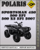 Thumbnail 2007 Polaris Sportsman 450 500 EFI 500 X2 EFI Factory Service Repair Manual