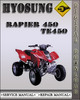 Thumbnail Hyosung Rapier 450 TE450 Factory Service Repair Manual