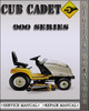 Thumbnail Cub Cadet 900 Series Riding Tractor Factory Shop Service Repair Manual