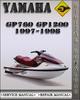 Thumbnail 1997-1998 Yamaha GP760 GP1200 Factory Service Repair Manual