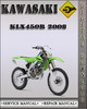Thumbnail 2008 Kawasaki KLX450R Factory Service Repair Manual