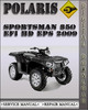Thumbnail 2009 Polaris Sportsman 850 EFI Hd Eps Factory Service Repair Manual