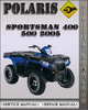 Thumbnail 2005 Polaris Sportsman 400 500 Factory Service Repair Manual