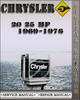 Thumbnail 1969-1976 Chrysler Outboard 20 25 Hp Factory Service Repair Manual 1970 1971 1972 1973 1974 1975