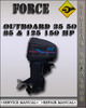 Thumbnail Force Outboard 35 50 85 & 125 150 Hp Service Repair Manual