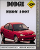 Thumbnail 1997 Dodge Neon Factory Service Repair Manual