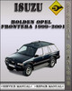 Thumbnail 1999-2001 Isuzu Holden Opel Frontera Factory Service Repair Manual 2000