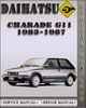 Thumbnail 1983-1987 Daihatsu Charade G11 Factory Service Repair Manual 1984 1985 1986