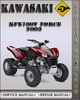 Thumbnail 2003 Kawasaki KFX700V Force Factory Service Repair Manual