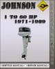Thumbnail 1971-1989 Johnson Outboard 1 to 60 hp Factory Service Repair Manual 1972 1973 1974 1975 1976 1977 1978 1979 1980 1981 1982 1983 1984 1985 1986 1987 1988