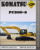Thumbnail Komatsu PC200-6 Hydraulic Excavator Factory Shop Service Repair Manual