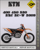 Thumbnail 2009 KTM 400 450 530 EXC EC-W Factory Service Repair Manual