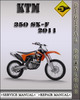 Thumbnail 2011 KTM 350 SX-F Factory Service Repair Manual