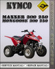 Thumbnail Kymco Maxxer 300 250 Mongoose 300 250 Factory Service Repair Manual
