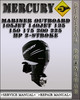 Thumbnail 1992-2000 Mercury Mariner Outboard 105jet 140jet 135 150 175 200 225 Hp 2-stroke Factory Service Repair Manual 1993 1994 1995 1996 1997 1998 1999