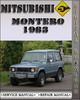Thumbnail 1983 Mitsubishi Montero Factory Service Repair Manual